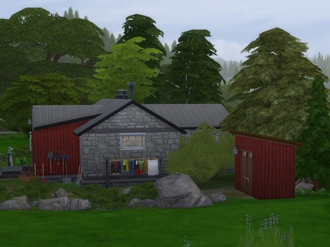 Sims 4 Rallarbrakka (The workers barrack) at KyriaT's Sims 4 World