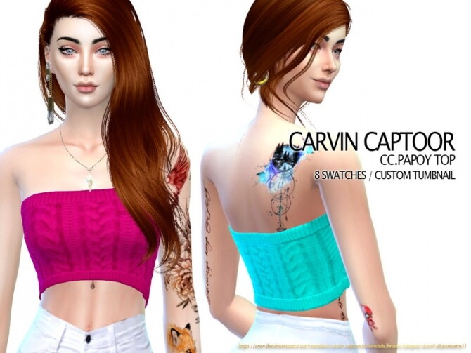 Sims 4 Papoy top by carvin captoor at TSR
