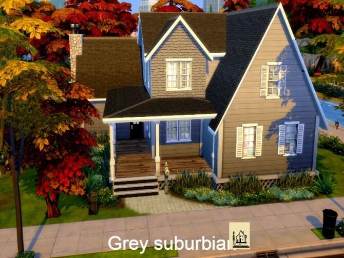 Grey suburbian house by GenkaiHaretsu at TSR image 2534 670x503 Sims 4 Updates