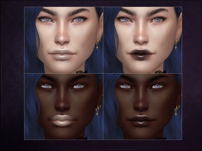 Sims 4 Neon Lipstick by RemusSirion at TSR