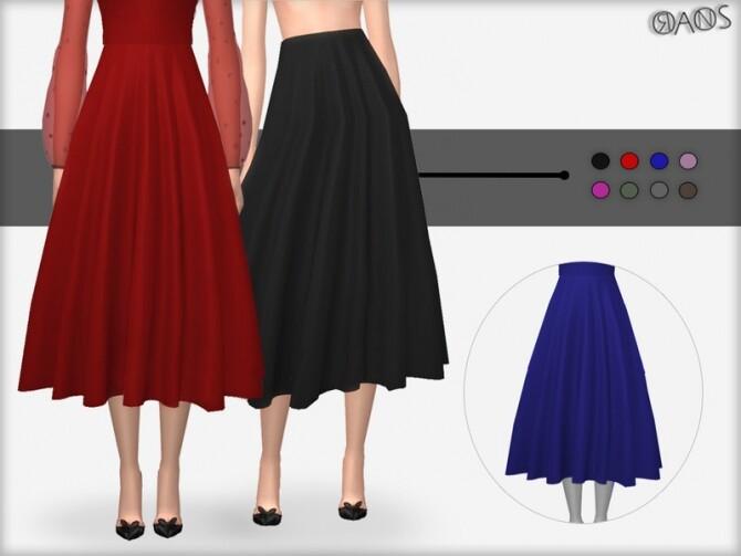 Sims 4 Lurex Skirt V2 by OranosTR at TSR