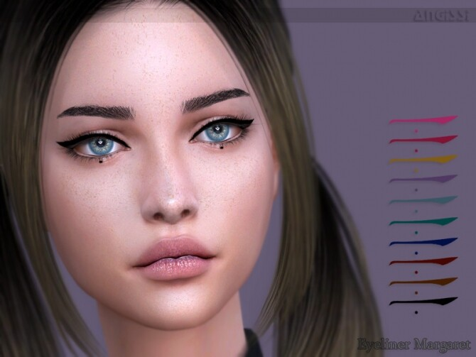 Sims 4 Margaret eyeliner by ANGISSI at TSR