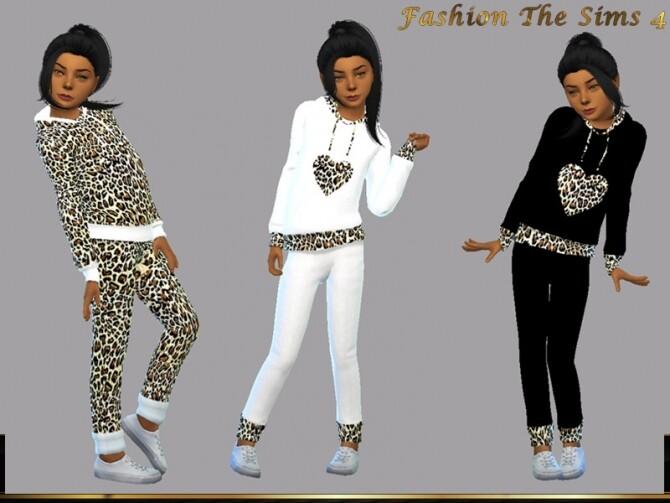 Sims 4 Set Hoodie for Girls Lara 2 by LYLLYAN at TSR