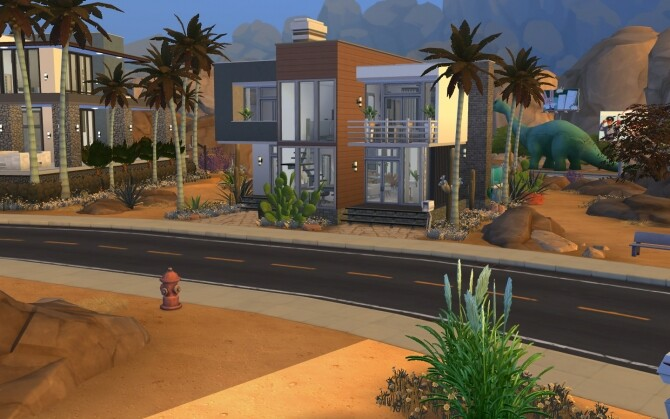 Sims 4 Sandstone house by azyzzel at Mod The Sims