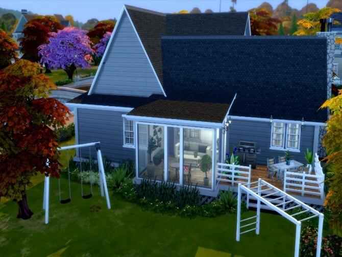 Grey suburbian house by GenkaiHaretsu at TSR image 2633 670x503 Sims 4 Updates