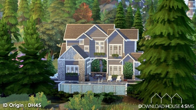 Sims 4 15 Impasse des Rochers house at DH4S