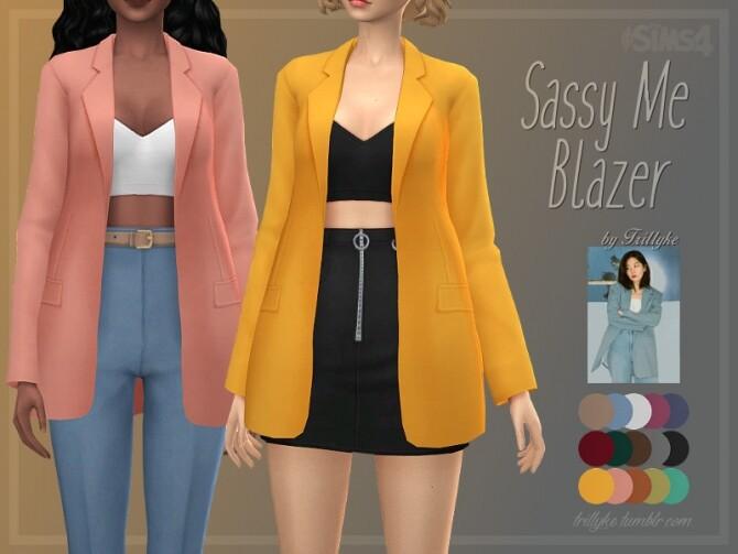 Sassy Me Blazer by Trillyke at TSR image 2710 670x503 Sims 4 Updates
