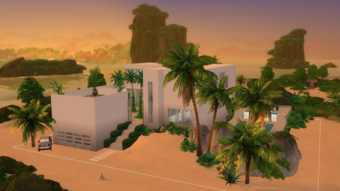 Sims 4 Paradise Beach Mansion by Bellusim at Mod The Sims