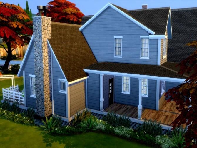 Grey suburbian house by GenkaiHaretsu at TSR image 2733 670x503 Sims 4 Updates