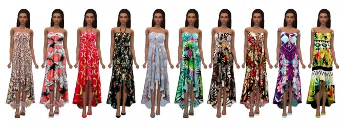 SENTATE'S ASYMMETRICAL FRILLED DRESS at Sims4Sue image 274 670x252 Sims 4 Updates