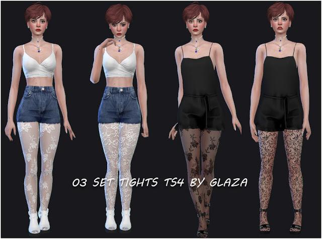Sims 4 03 SET TIGHTS at All by Glaza