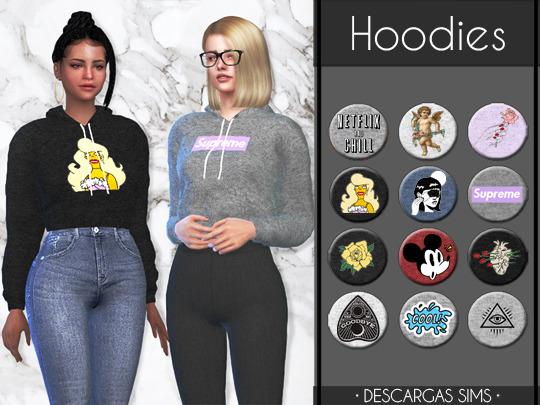Sims 4 Hoodies at Descargas Sims