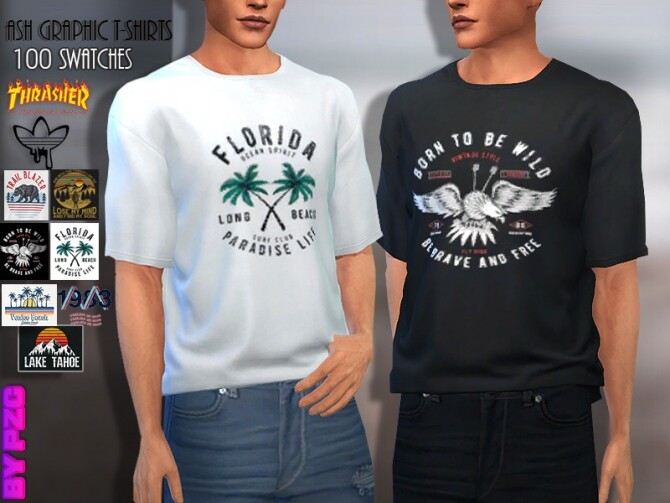 Ash Graphic Tees Collection by Pinkzombiecupcakes at TSR image 2810 670x503 Sims 4 Updates