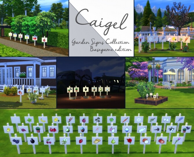 Garden Sign Collection by Caigel at Mod The Sims image 2842 670x544 Sims 4 Updates