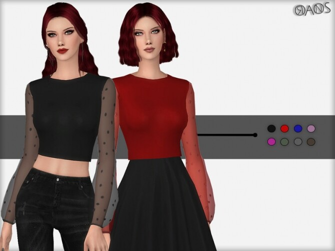 Lurex Top by OranosTR at TSR image 2910 670x503 Sims 4 Updates