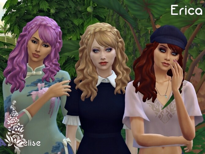 Erica hair recolors by Delise at Sims Artists image 292 670x503 Sims 4 Updates