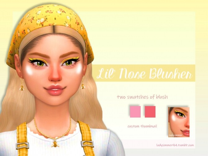 Sims 4 Lil Nose Blusher by LadySimmer94 at TSR