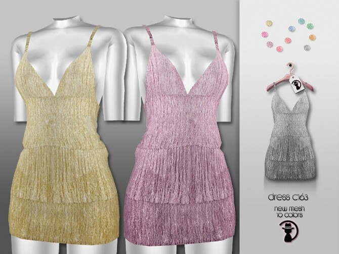 Sims 4 Dress C163 by turksimmer at TSR