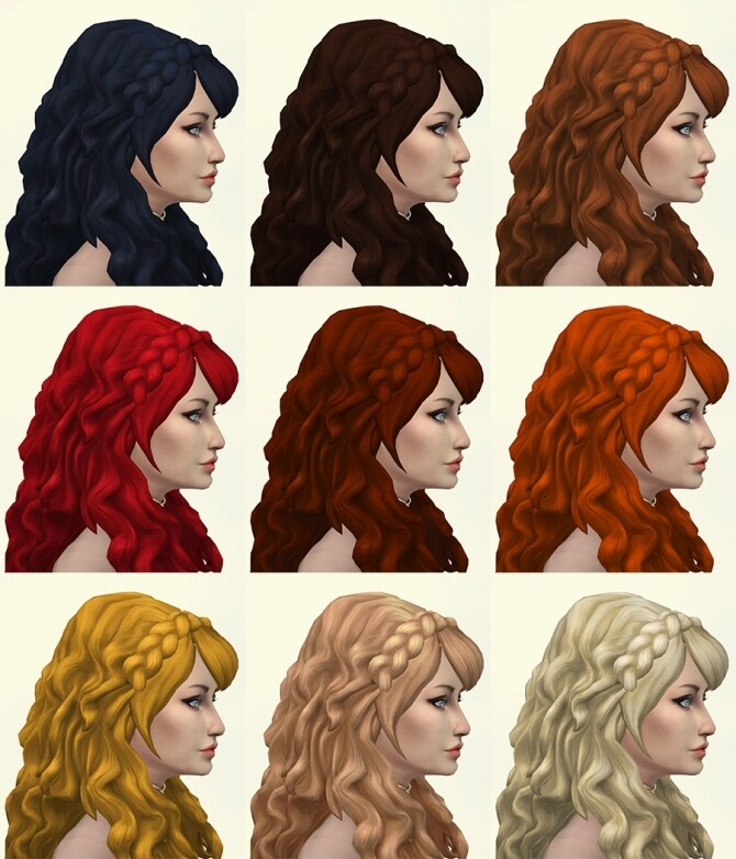 Erica hair recolors by Delise at Sims Artists image 294 670x782 Sims 4 Updates