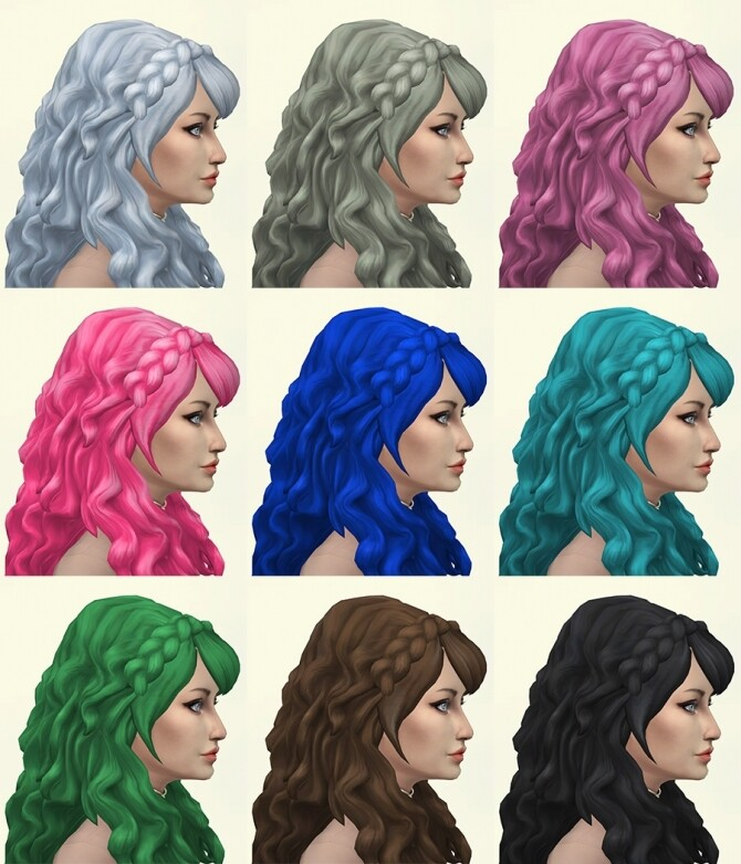 Sims 4 Erica hair recolors by Delise at Sims Artists