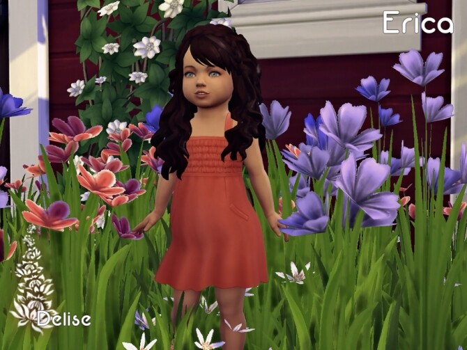 Sims 4 Erica hair recolors for kids and toddlers by Delise at Sims Artists