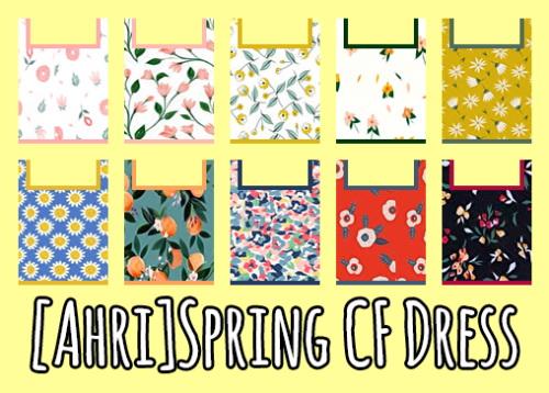 Sims 4 Spring CF Dress at Ahri Sim4