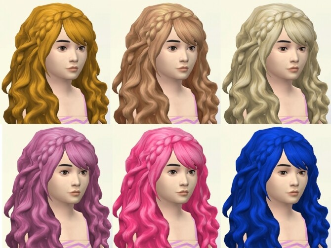 Erica hair recolors for kids and toddlers by Delise at Sims Artists image 298 670x503 Sims 4 Updates