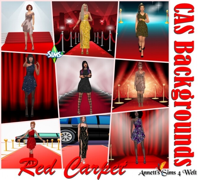 Red Carpet CAS Backgrounds at Annett's Sims 4 Welt image 301 670x610 Sims 4 Updates