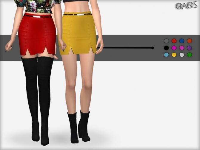 Sims 4 Double Slit Skirt by OranosTR at TSR
