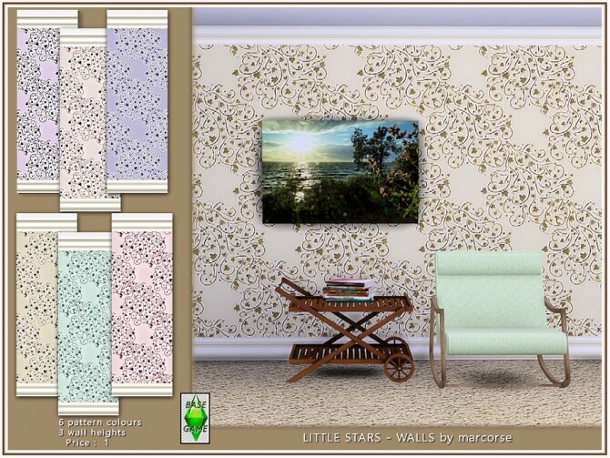 Little Stars Walls by marcorse at TSR image 3030 670x503 Sims 4 Updates