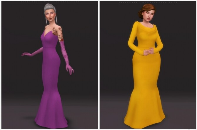 MARIGOLD & MAGNOLIA LONG DRESSES at Candy Sims 4 image 310 670x445 Sims 4 Updates