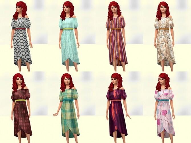 Sims 4 Bota dress 2 by Delise at TSR