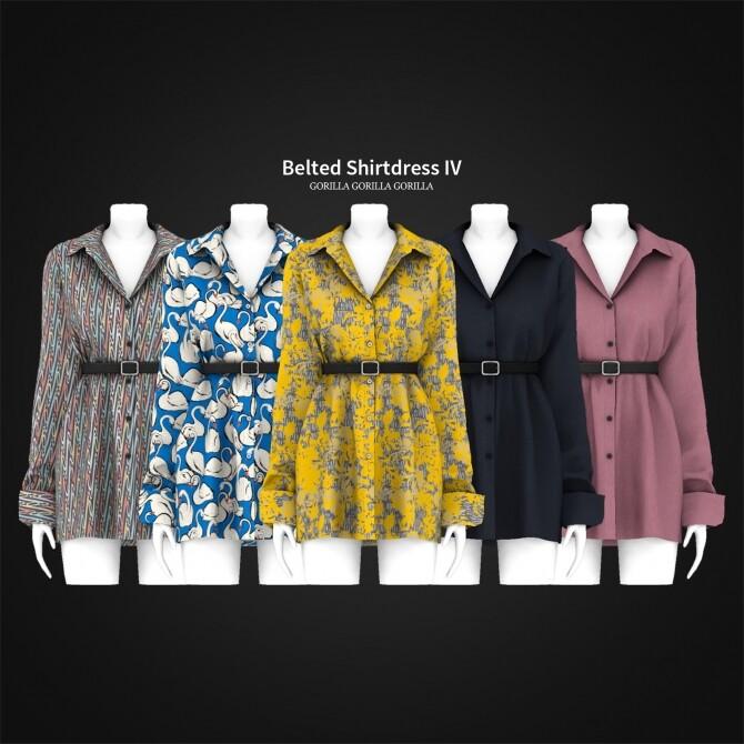 Belted Shirtdress IV at Gorilla image 311 670x670 Sims 4 Updates