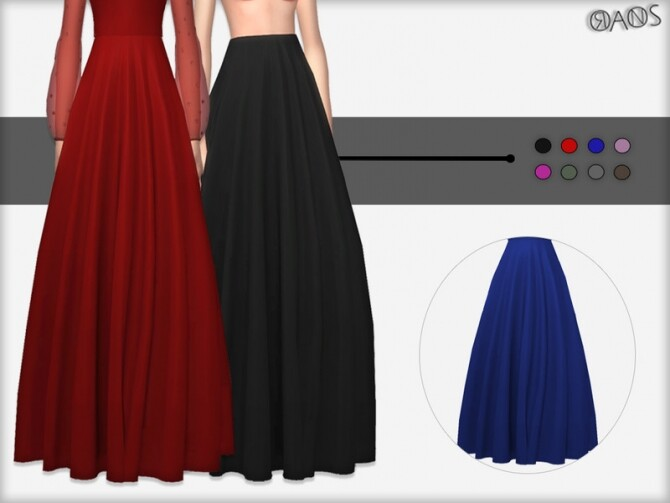 Sims 4 Lurex Skirt by OranosTR at TSR
