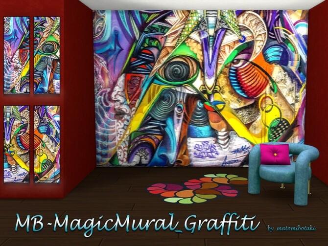 Sims 4 MB Magic Mural Graffiti by matomibotaki at TSR