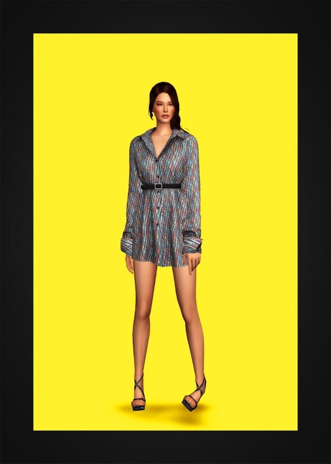 Belted Shirtdress IV at Gorilla image 312 670x937 Sims 4 Updates