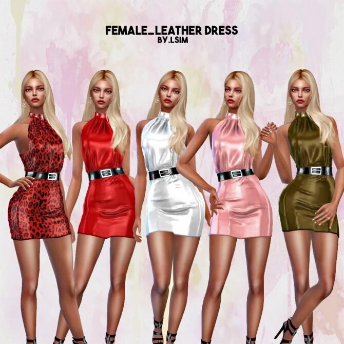 Sims 4 Leather dress at L.Sim