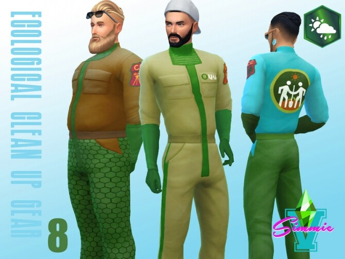 Sims 4 Eco Clean Up Gear by SimmieV at TSR