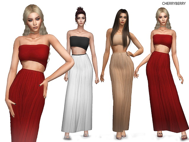 Sims 4 Mandevilla Dress at Cherryberry