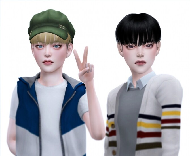 Sims 4 Beyond hair for KIDS at SNOOPY