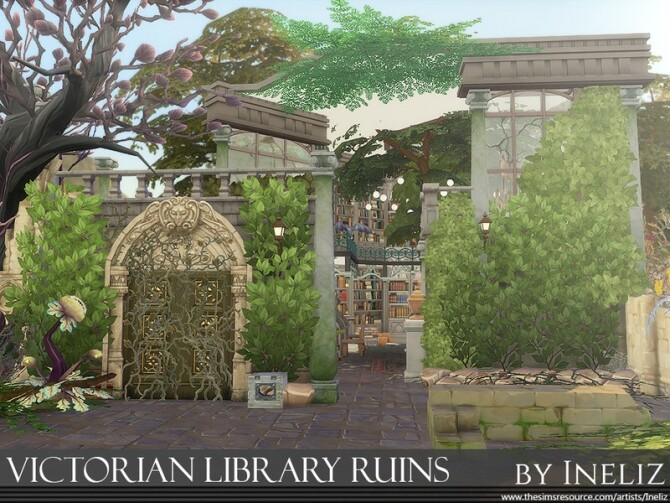 Victorian Library Ruins by Ineliz at TSR image 328 670x503 Sims 4 Updates