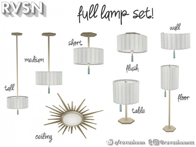 Watts Not To Love Lamp Set by RAVASHEEN at TSR image 33 670x503 Sims 4 Updates