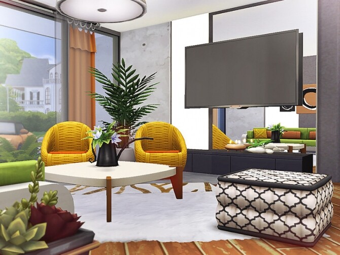 Carley modern house by Rirann at TSR image 3323 670x503 Sims 4 Updates
