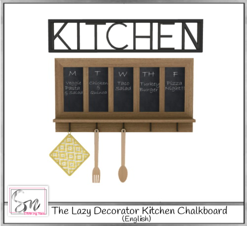 The Lazy Decorator Kitchen Chalkboard at Simthing New image 3324 Sims 4 Updates