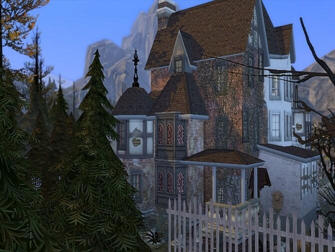 Haunted old manor NO CC by GenkaiHaretsu at TSR image 334 670x503 Sims 4 Updates