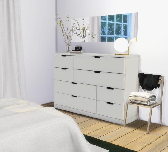 Sims 4 Nordli Dresser at Heurrs