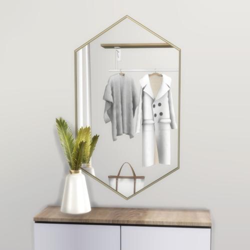 Sims 4 Hexagon Wall Mirror at Heurrs