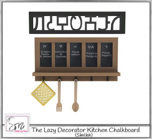 Sims 4 The Lazy Decorator Kitchen Chalkboard at Simthing New