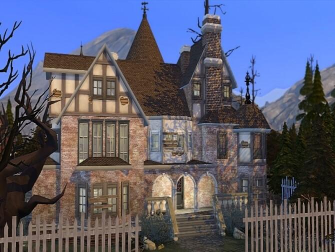 Haunted old manor NO CC by GenkaiHaretsu at TSR image 344 670x503 Sims 4 Updates
