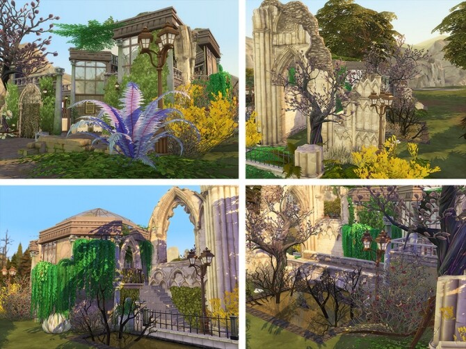 Victorian Library Ruins by Ineliz at TSR image 345 670x503 Sims 4 Updates